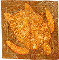 "Luxury Accessories:Accessories, Hermes 90cm Orange & Brown ""De Madras a Zakynthos,"" by DominikJarlegant Silk Scarf . ..."