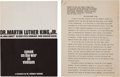 Miscellaneous:Ephemera, [Martin Luther King Jr.]. Two Addresses and Related Items... (Total: 4 )