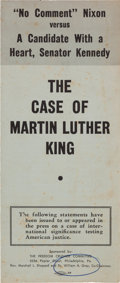 Miscellaneous:Brochures, [1960 Presidential Election]. Brochure: The Case of MartinLuther King....