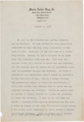 Miscellaneous:Ephemera, Martin Luther King Jr. Typed Statement Regarding His Call to theMinistry....