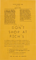 Miscellaneous:Ephemera, [Committee on Appeal for Human Rights]. Student Movement Flyer....