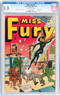 Golden Age (1938-1955):Superhero, Miss Fury #8 (Timely, 1946) CGC VG/FN 5.0 Slightly brittle pages....