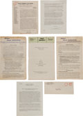 Miscellaneous:Ephemera, [School Desegregation]. Group of Documents Regarding theDesegregation of Schools....
