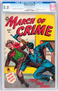 Golden Age (1938-1955):Crime, March of Crime #7 (#1) (Fox Features Syndicate, 1950) CGC VF 8.0 Cream to off-white pages....