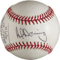 Autographs:Baseballs, Al Downing Single Signed Baseball With Hank Aaron Content....