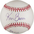 Autographs:Baseballs, Ken Burns Single Signed Baseball With Jackie Robinson Content. ...