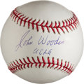 "Autographs:Baseballs, John Wooden ""UCLA"" Single Signed Baseball...."
