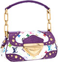 Luxury Accessories:Bags, Louis Vuitton White Monogram Multicolore Canvas & LavenderCrocodile Marilyn Bag . ...