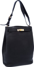 Luxury Accessories:Bags, Hermes 26cm Black Togo Leather So Kelly Bag with Gold Hardware. ...