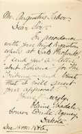 Autographs:Authors, Elaine Goodale (1863-1953, American poet and wife of Dr. Charles Eastman) Autograph Letter Signed. December 15, 1886. One oc...