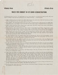 Miscellaneous:Ephemera, Anti-Civil Rights Flyer: Rules for Conduct in Sit-DownDemonstrations....