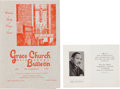 Miscellaneous:Ephemera, Martin Luther King Jr. Funeral Card and Memorial Mass Program....