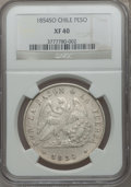 Chile, Chile: Republic Peso 1854 So,...