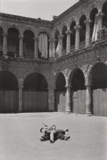 Photographs:20th Century, HELEN LEVITT (American, 1913-2009). Untitled (Children Playingin the Courtyard), 1941. Vintage contact gelatin silver ...