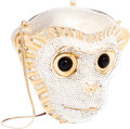Luxury Accessories:Bags, Judith Leiber Half Bead Gold & Crystal Monkey Head MinaudiereEvening Bag . ...