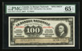 Canadian Currency: , Quebec City, PQ- La Banque Nationale $100 Nov. 2, 1922 Ch. 510-22-10S Specimen . ...