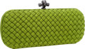 Luxury Accessories:Bags, Bottega Veneta Green Intrecciato Silk Stretch Knot Clutch Bag. ...