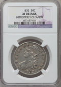 Bust Half Dollars, 1832 50C Small Letters -- Improperly Cleaned -- NGC Details. XF.NGC Census: (130/1757). PCGS Population (240/1743). Mintag...