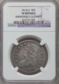 Bust Half Dollars, 1814/3 50C -- Improperly Cleaned -- NGC Details. VF. NGC Census:(6/107). PCGS Population (7/164). Numismedia Wsl. Price f...