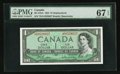 Canadian Currency: , BC-37bA $1 1954 Replacement Note *D/O Prefix. ...
