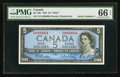 Canadian Currency: , BC-39b $5 1954 Serial Number Four. ...
