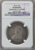 Bust Half Dollars, 1814 50C -- Improperly Cleaned -- NGC Details. VG. NGC Census:(2/545). PCGS Population (3/608). Mintage: 1,039,075. Numism...