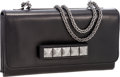 Luxury Accessories:Bags, Valentino Black Leather VaVaVoom Rockstud Noir Clutch Bag withShoulder Strap. ...