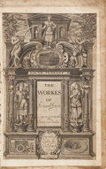 Books:Literature Pre-1900, Ben Jonson. The Workes of Benjamin Jonson. London: WillStansby, 1616. First collected edition, volume I only (t...