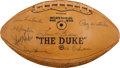 Football Collectibles:Balls, 1965 Green Bay Packers Team Signed Football - World Championship Team!...