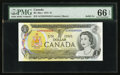 Canadian Currency: , BC-46a-i $1 1973 Solid Four Serial Number. ...