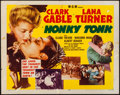 """Movie Posters:Western, Honky Tonk (MGM, R-1955). Half Sheet (22"""" X 28"""") Style A. Western.. ..."""