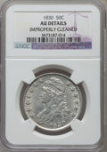 Bust Half Dollars, 1830 50C Small 0 -- Improperly Cleaned -- NGC Details. AU. NGCCensus: (108/1223). PCGS Population (149/933). Mintage: 4,76...