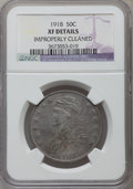 Bust Half Dollars, 1818 50C -- Improperly Cleaned -- NGC Details. XF. NGC Census:(63/463). PCGS Population (106/509). Mintage: 1,960,322. Num...