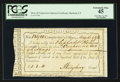 Colonial Notes:Connecticut, Connecticut Interest Certificate May 16, 1792 Cut Cancel PCGSExtremely Fine 45.. ...
