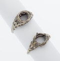 Estate Jewelry:Rings, White Gold Ring Mountings. ... (Total: 2 Items)