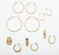 Estate Jewelry:Earrings, Gold Earring Lot. ... (Total: 6 Items)