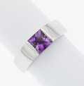 Estate Jewelry:Rings, Amethyst, White Gold Ring, Cartier. ...