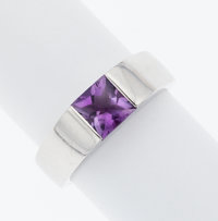 Amethyst, White Gold Ring, Cartier
