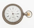 Timepieces:Pocket (pre 1900) , Auguste Saltzman Independent Seconds With 1/4 Second Jump PocketWatch. ...