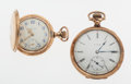 Timepieces:Pocket (post 1900), Elgin & Waltham Gold Filled Pocket Watches. ... (Total: 2 Items)