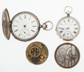 Timepieces:Other , A Lot Of Four Miscellaneous Watch Items For Parts Or Repair. ...(Total: 4 Items)