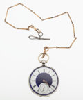 Timepieces:Pocket (pre 1900) , M.J. Tobias Liverpool Key Wind Silver Pocket Watch. ...