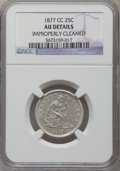 Seated Quarters, 1877-CC 25C -- Improperly Cleaned -- NGC Details. AU. NGC Census:(11/377). PCGS Population (17/443). Mintage: 4,192,000. N...