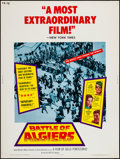 "Movie Posters:War, The Battle of Algiers (Allied Artists, 1968). Poster (30"" X 40"").War.. ..."