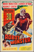 "Movie Posters:Science Fiction, Robot Monster (Astor Pictures, 1953). One Sheet (26.75"" X 41"") 3-DStyle. Science Fiction.. ..."