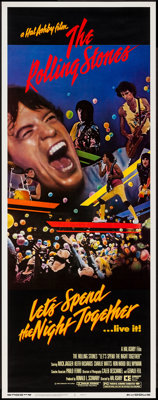 """Let's Spend the Night Together (Embassy, 1983). Insert (14"""" X 36""""). Rock and Roll"""