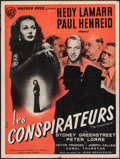 "Movie Posters:War, The Conspirators (Warner Brothers, 1949). First Post-War FrenchAffiche (23.5"" X 31.5""). War.. ..."