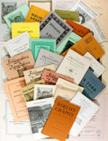 Books:Reference & Bibliography, [Bookseller Catalogs]. Group Lot of Bookseller Catalogs. Variousdates. Subject matter is primarily bibliography, reference ...