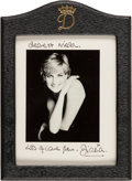 Autographs:Non-American, Diana, Princess of Wales, Archive.... (Total: 5 Items)