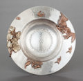 Silver & Vertu:Hollowware, A GORHAM SILVER AND MIXED METAL FOOTED BOWL. Gorham Manufacturing Co., Providence, Rhode Island, 1882. Marks: (lion-anchor-G...